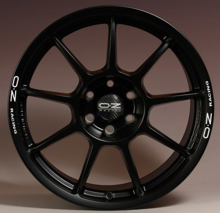 OZ I-Tech CHALLENGE HLT 10x18 5x120 25 MATT BLACK WHITE LETTERING