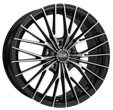 OZ X-Line EGO 7x16 4x100 37 MATT BLACK DIAMOND CUT