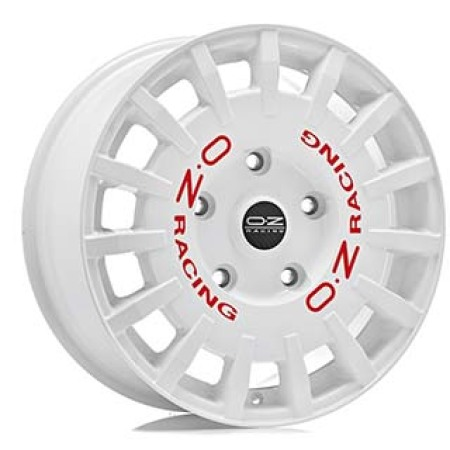OZ SPORT RALLY RACING 7,5x18 5x100 48 WHITE RED LETTERING