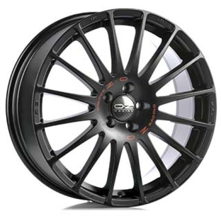 OZ SPORT SUPERTURISMO GT 6x14 4x108 15 MATT BLACK RED LETTERING