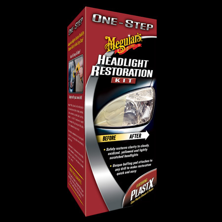 Meguiars sada na oživení skel světlometů One Step Headlight Restoration Kit