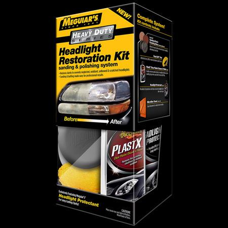 Meguiars sada na oživení skel světlometů Heavy Duty Headlight Restoration Kit