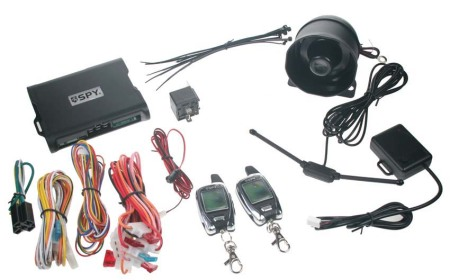 SPY 2-WAY CAR autoalarm, 2 x LCD ovladač