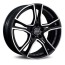 VYPRODEJ X-Line ADRENALINA 8x17 5x114,30 45 MATT BLACK DIAMOND CUT